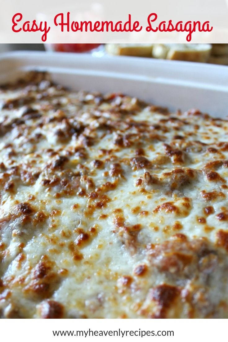 Homemade Lasagna Recipe Is Simply The Best Super Simple