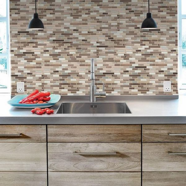 Delightful Peel And Stick Tile Backsplash U2013 Review Of Pros And Cons Awesome Design