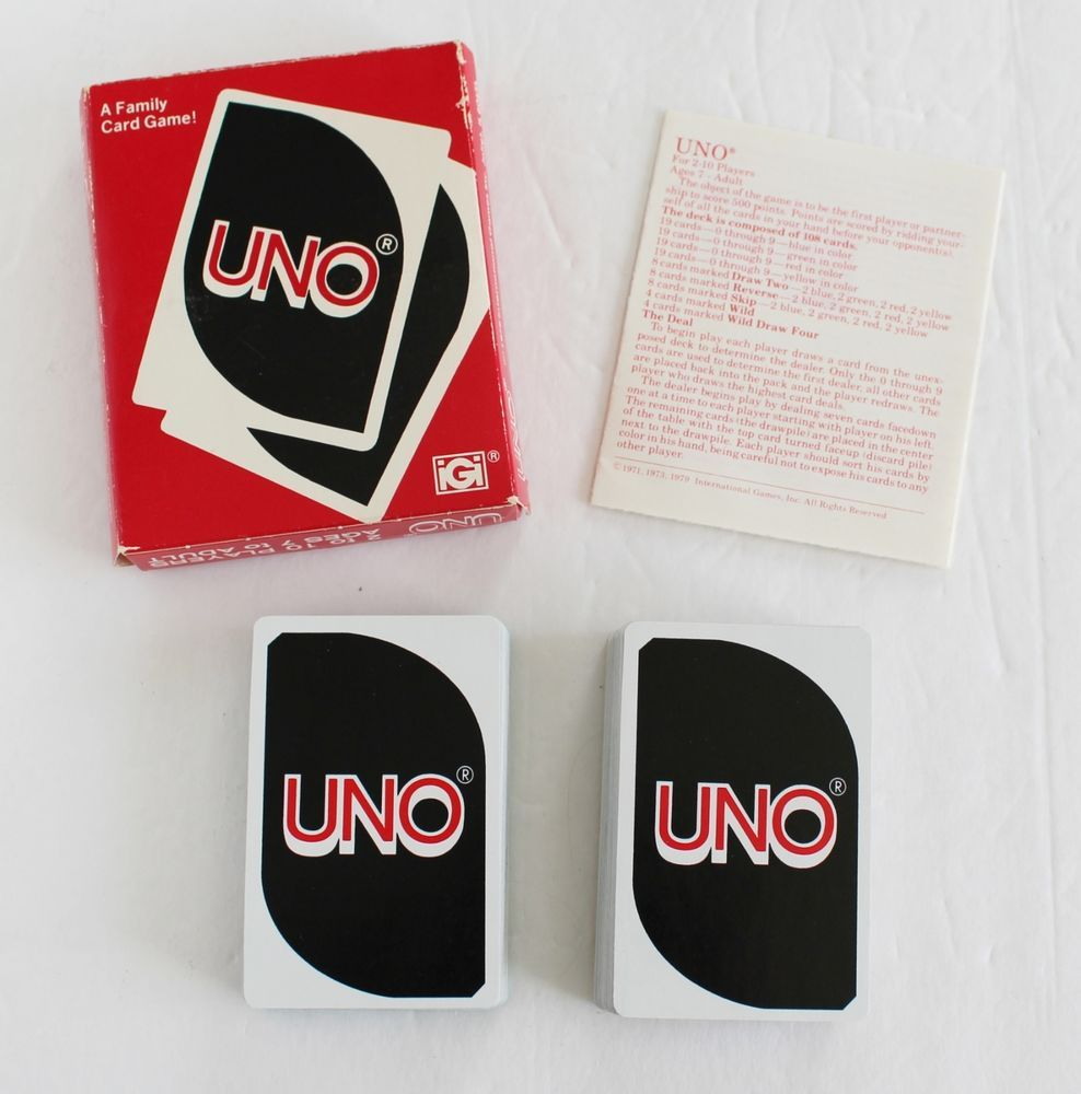 Vintage Uno Card Game 1979 Complete W Rules Instructions Igi