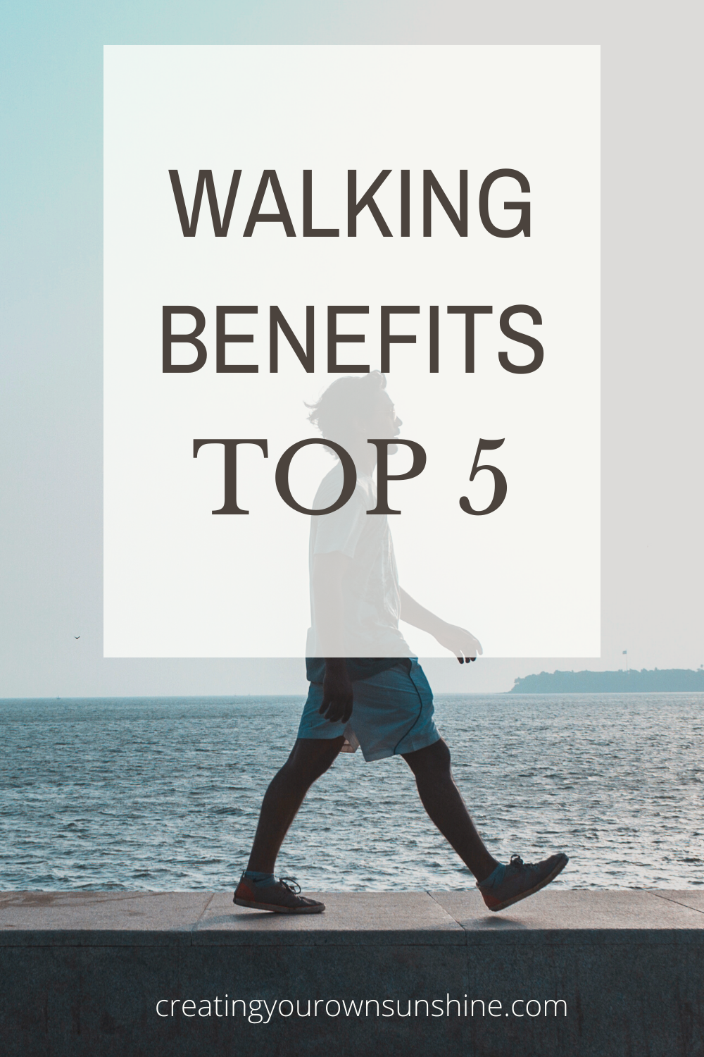 Walking has so many benefits! Here are 5 of the best. Di you walk daily? Do you manage your 10000 steps a day? This post will inspire you to walk more for your health #10000 steps #health #daily