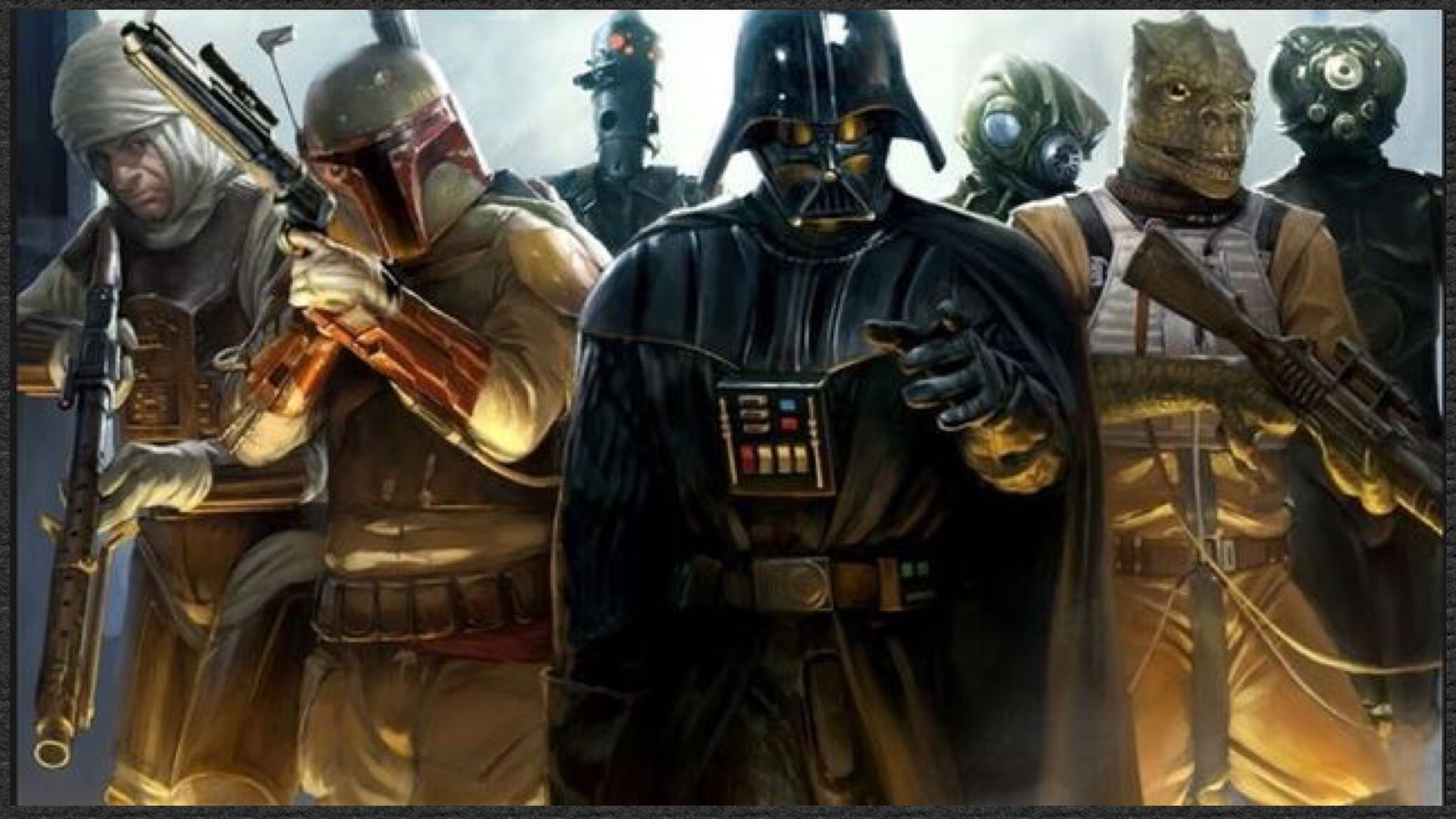 Star Wars Darth Vader And The Bounty Hunters Star Wars