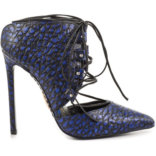 Lust For Life Women's Limit - Hue Blue Black (€160) ❤ liked on Polyvore featuring shoes, sexy black shoes, sexy stilettos, sexy black stilettos, sexy high heel shoes and leather shoes