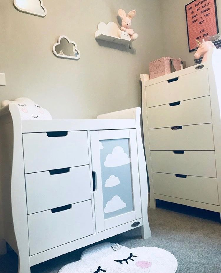 d6c7deeb4bf3 How cute is this personalised Obaby Stamford Changing Unit & Matching Stamford  Tall Chest of Drawers by @paulakluu from Instagram ☁ ☁ .
