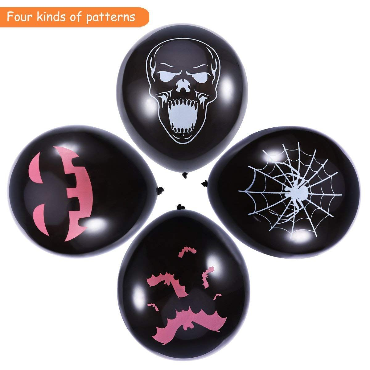 Deko Discount 24 Unomor Halloween Deko Latex Luftballone Fur Party Dekoration 24