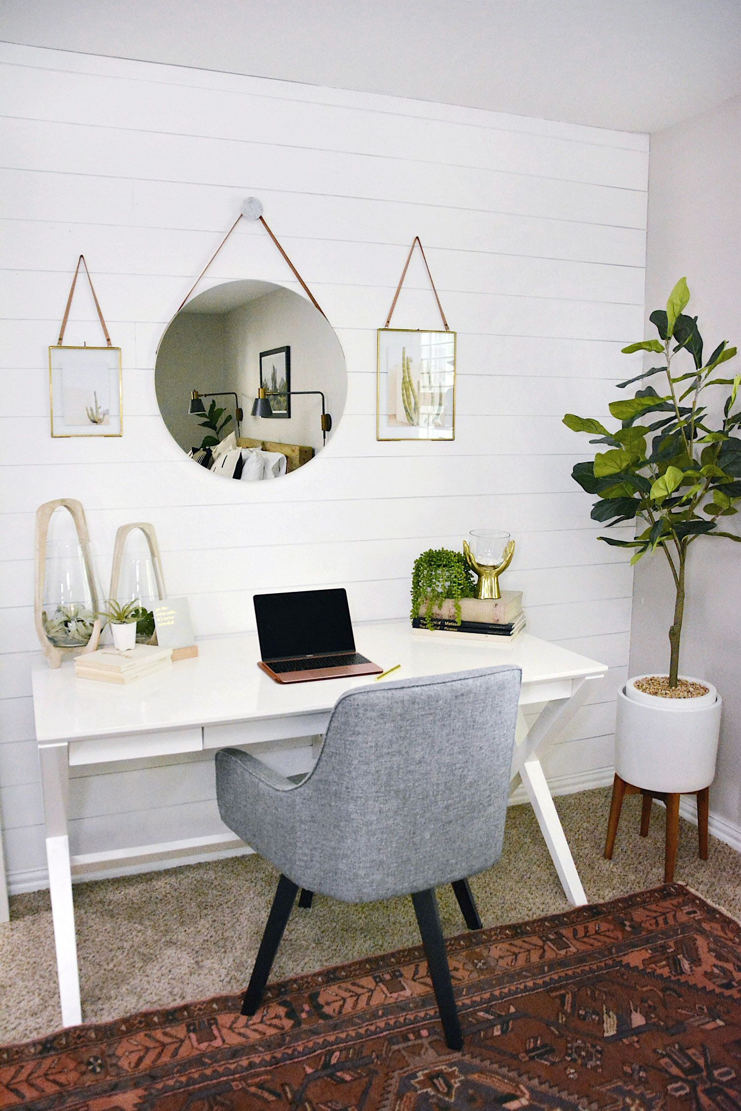 Home Office Mirror Collage Office Room Decor House Interior