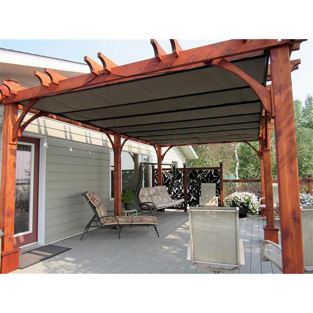 Outdoor Living Today Breeze Cedar 12 Ft X 20 Ft Pergola With Retractable Canopy Bz1220wrc The Home Depot In 2020 Pergola Outdoor Living Pergola Ideas For Patio
