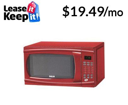 Rca Rmw1112 Red Red Countertop Microwave 1 1 Cu Ft 1000 Watts