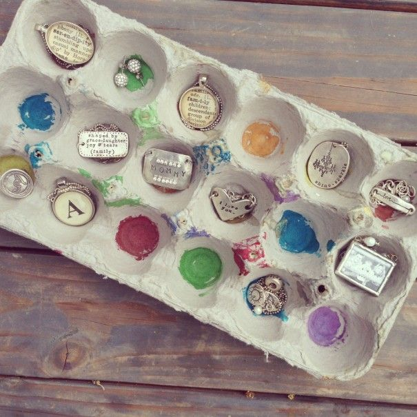 have your kids paint an old egg carton to upcycle into a cute