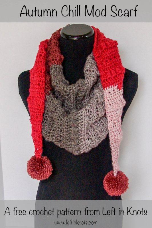 Autumn Chill Mod Scarf | Chal, Tejido y Crochet bufanda