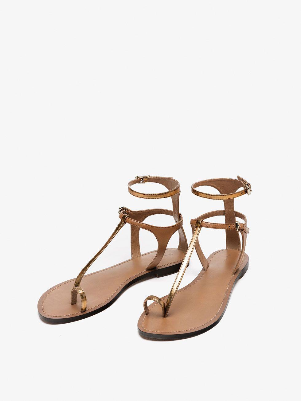 sandale en cuir À bride cuir pour nouveau - nouveau de massimo