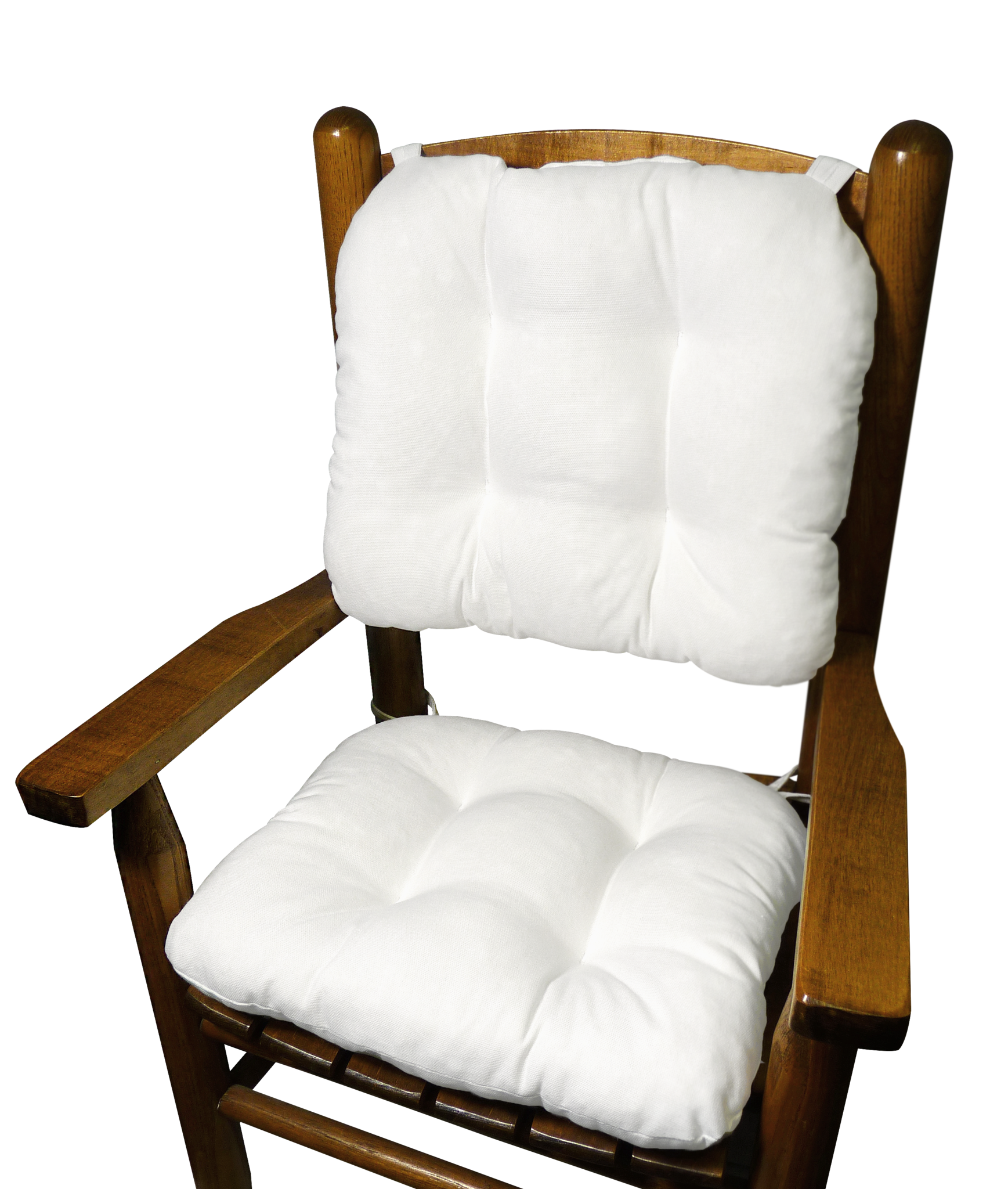 Child Rocking Chair Cushions Cotton Duck White Made in