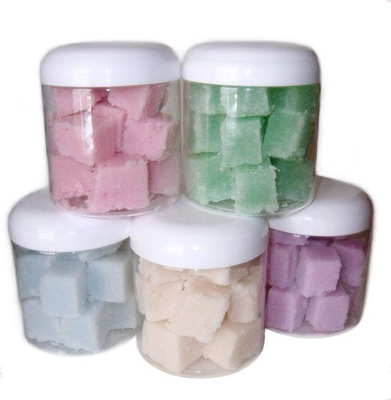 Sugar scrub cubes. Pink birthday cake $7.50  https://www.etsy.com/listing/152356586/moisturizing-sugar-scrub-cubes-choose