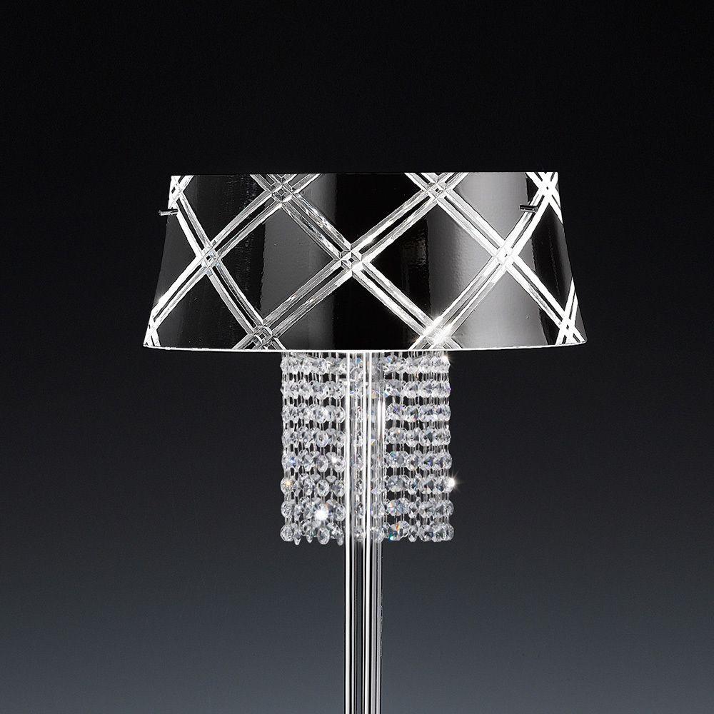 Frontlicht design edle stehleuchte medusa flammig schwarz jetzt bestellen unter