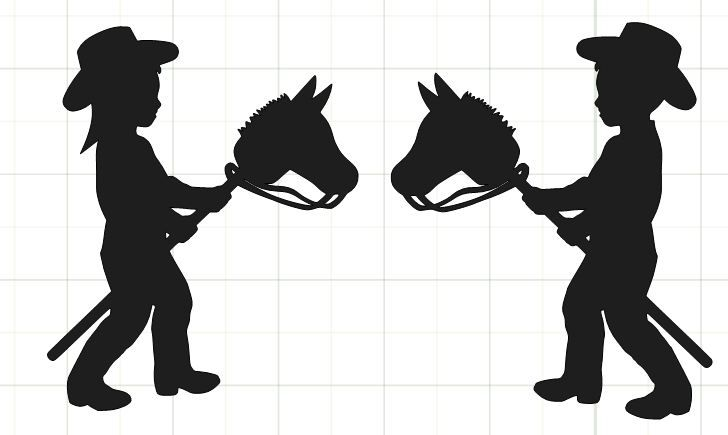 stick figure boy and girl clipart best cowboys horse