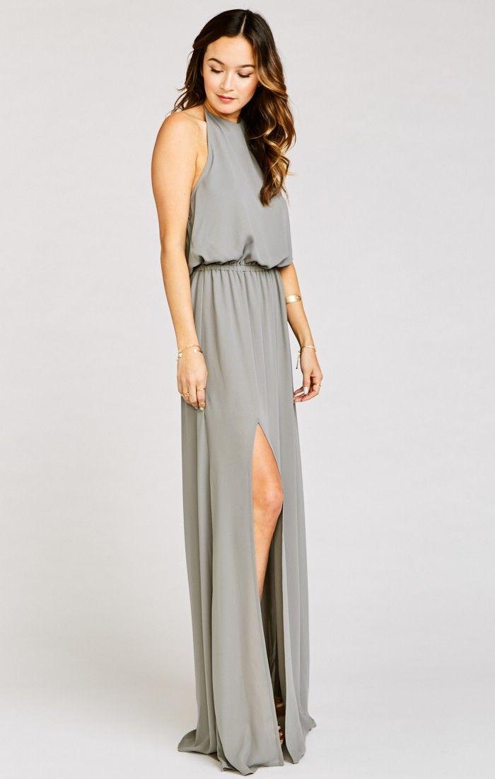 358ad9e806a Heather Halter Dress ~ Soft Charcoal Crisp in 2019