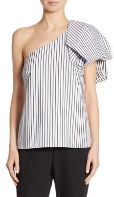 0feb2a9f97c Scripted Bow One-Shoulder Striped Top | Products | Tops, Shoulder ...