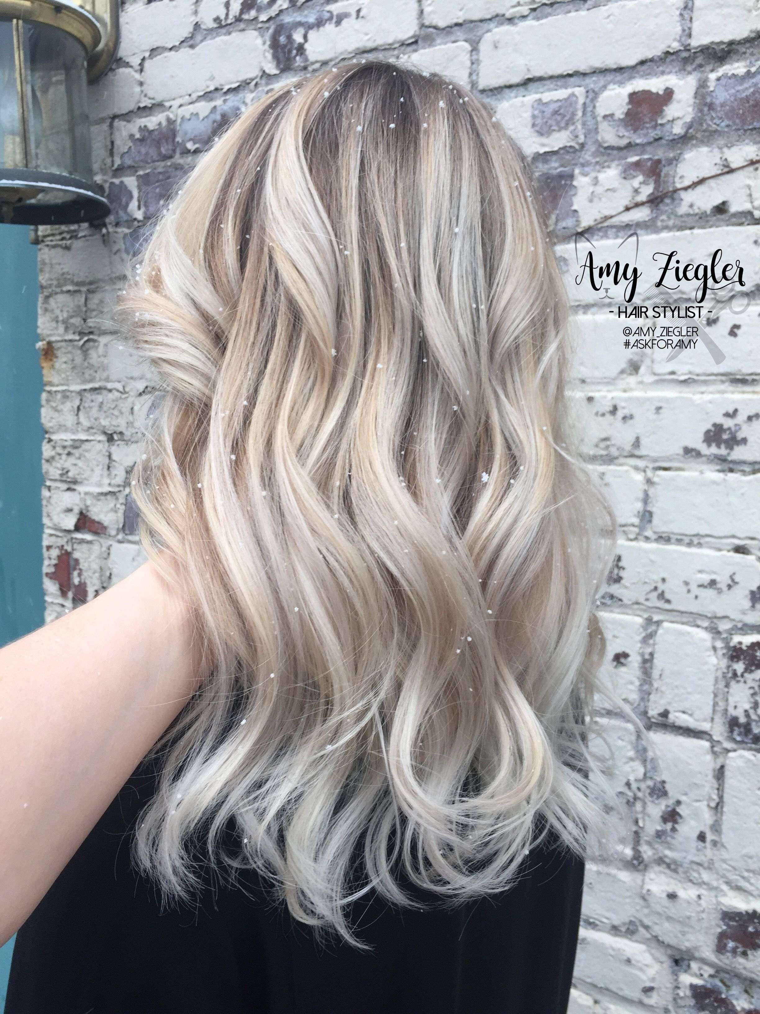 Snow White Blonde Platinum Balayage Ombre By Amyziegler