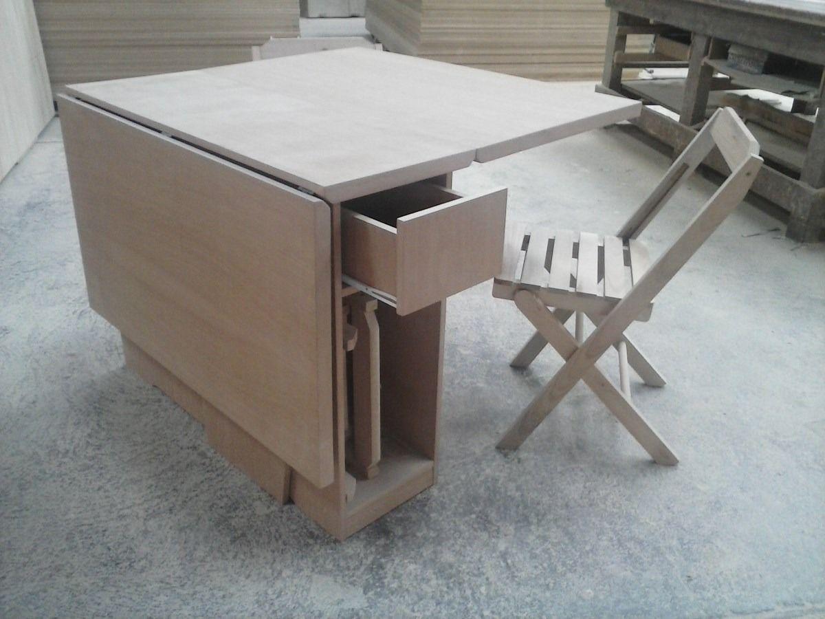 Armario Empotrado ~ Mesa Dobravel;mesa Com Cadeiras;mesa Extensiva R$ 1 626,00 no MercadoLivre moveis