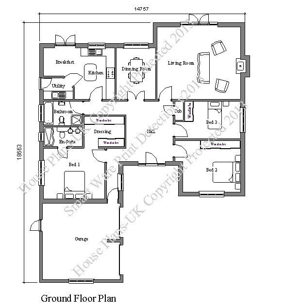 Product Details Bungalow Floor Plans House Plans Uk Sims House