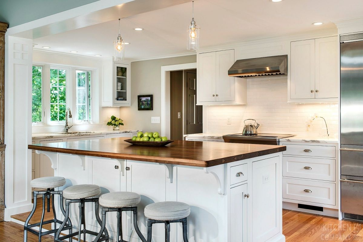 Brookhaven kitchen cabinets finishes - Blissful Cottage Kitchen Cabinetry Woodmode Brookhaven Cabinets With Nordic White Finish Backsplash White