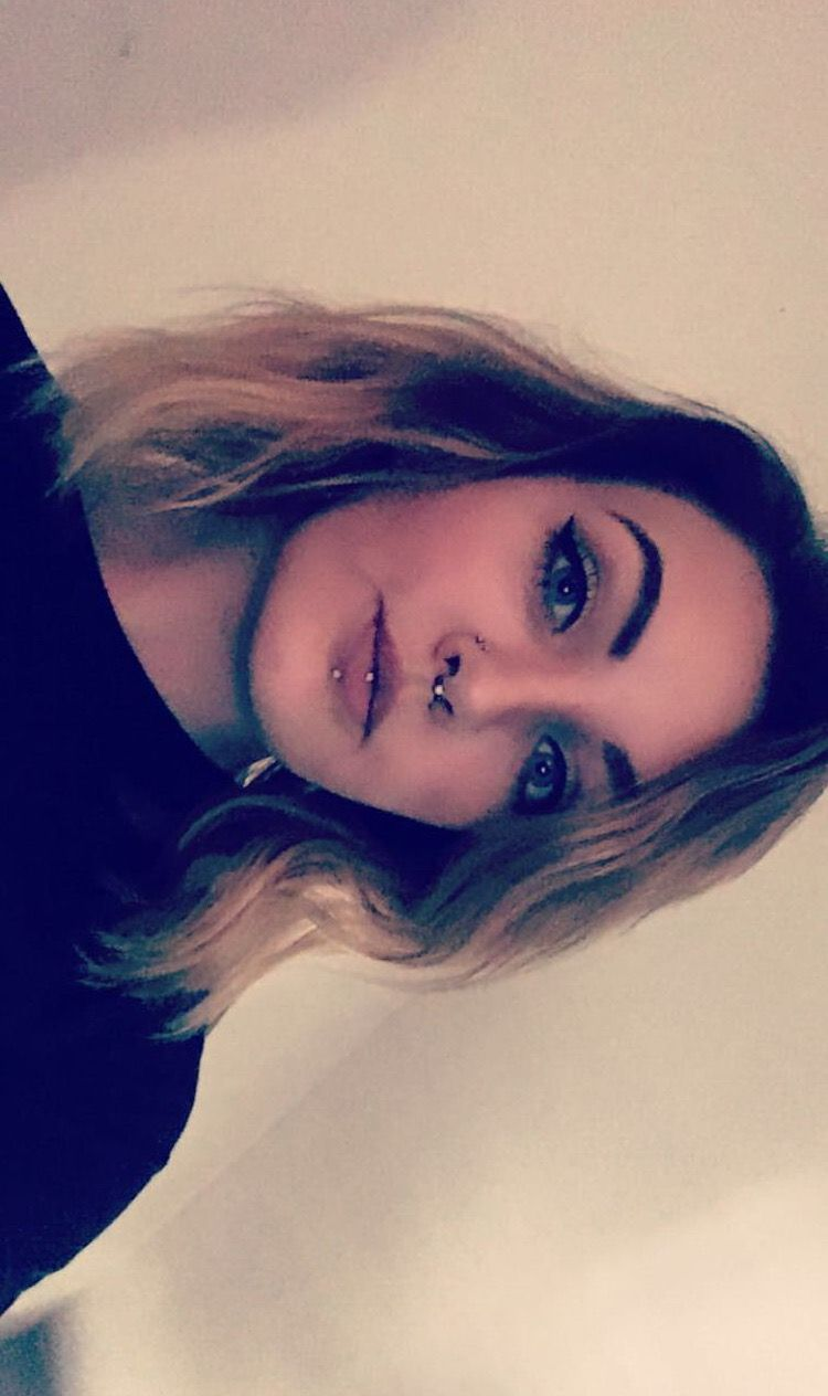 Lip piercing under nose  Septum piercing vertical labret and double nostril piercings all