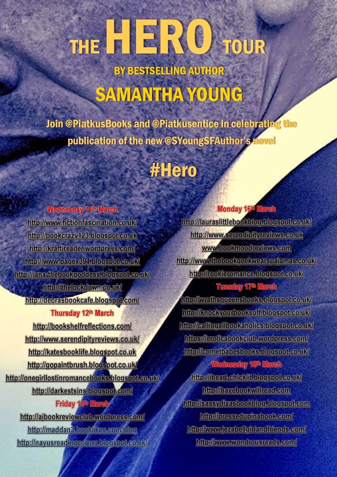 Calling All Bookaholics!: Blog Tour & Review - Hero By Samantha Young