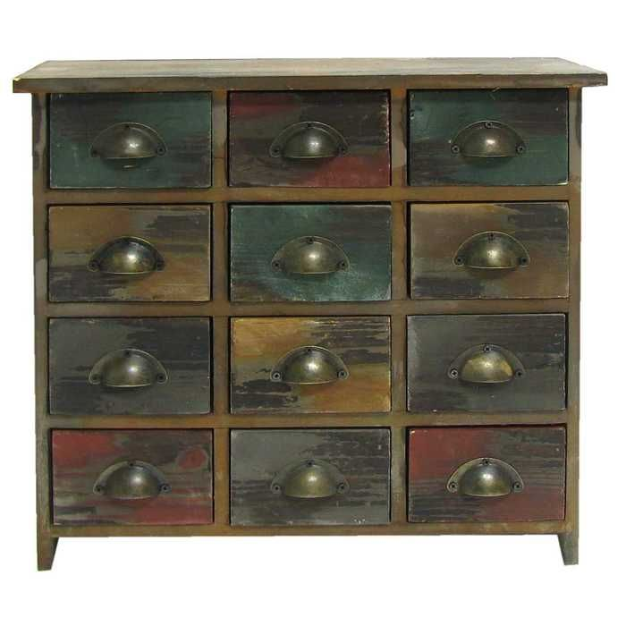 12 Drawer Wood Organizer Hobby Lobby