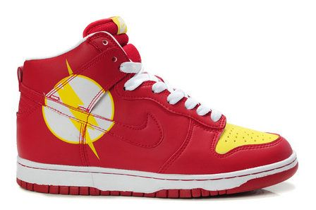 The Comics Flash Character Shoes Dc Nike Grappig Dunks Nikes q1BvXX