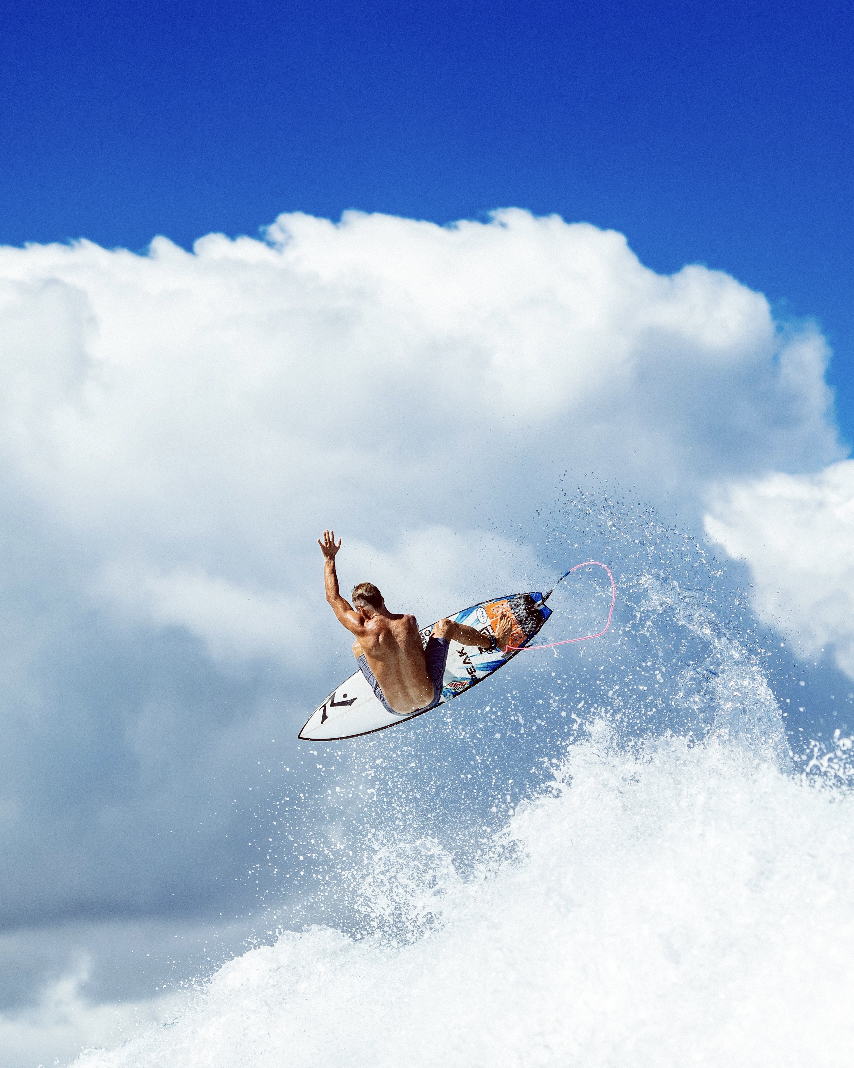 Josh Enjoying A Change Of Scenery During A Free Surf At The