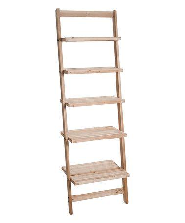 Light Wood Five Tier Ladder Storage Shelf On Zulily Light Wood Five Tier Ladder Storage Shelf Wood Storage Shelves Wooden Storage Shelves Leaning Ladder Shelf