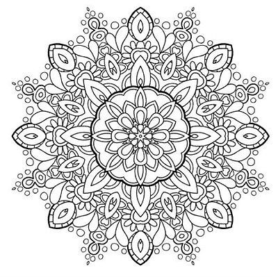 Adults Coloring Book Mandala Stress Relief Patterns