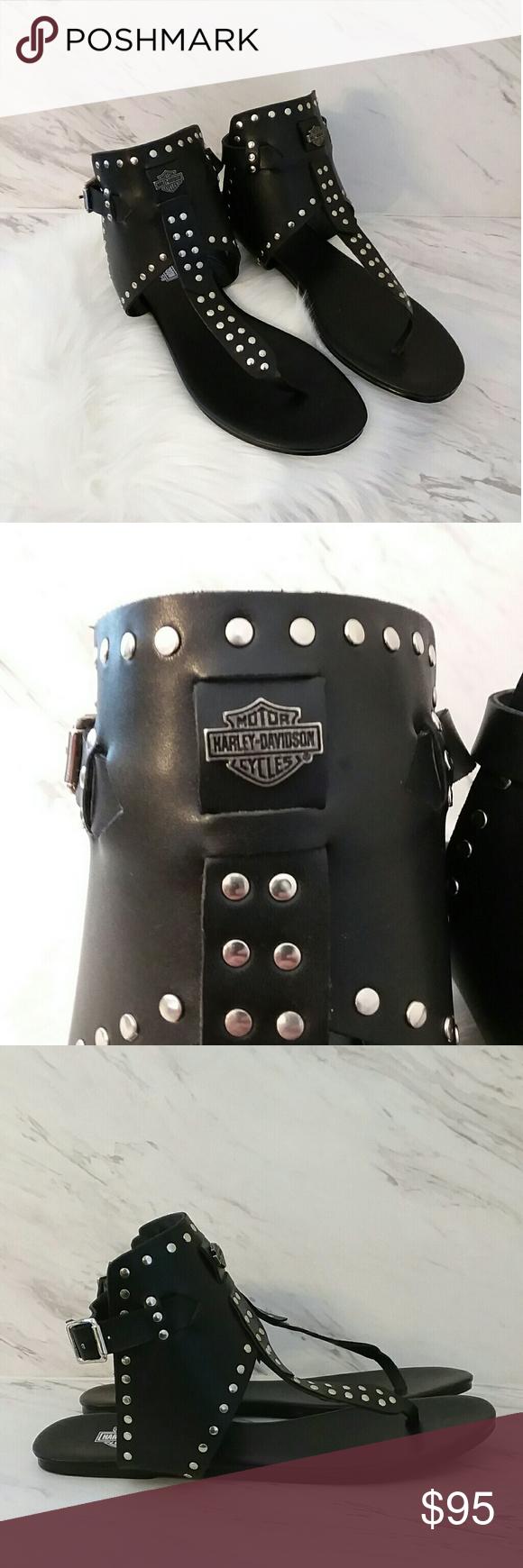 8737468f909bd3 NWOT Harley-Davidson Studded Gladiator Sandals Harley-Davidson Women s Ames  Gladiator Black Sandals D84128 Size 11 Harley-Davidson Shoes Sandals