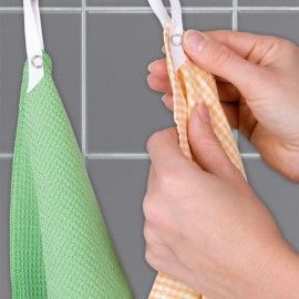 Universal No Sew Clip On Hanging Loops For Kitchen Towels Tea