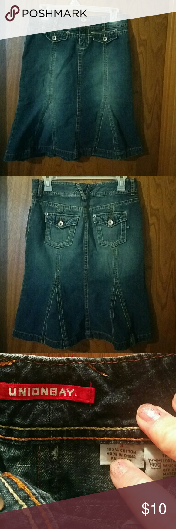 Selling This Unionbay Long Jean Skirt Size 3 Juniors On Poshmark My Username Is