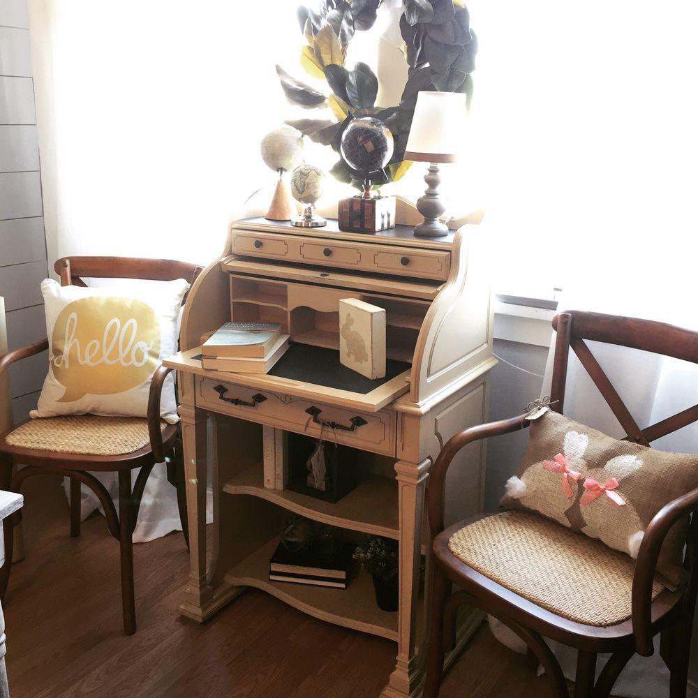 Vintage Secretary Roll Top Desk National Mt Airy Desks Garden  # Muebles Secreter