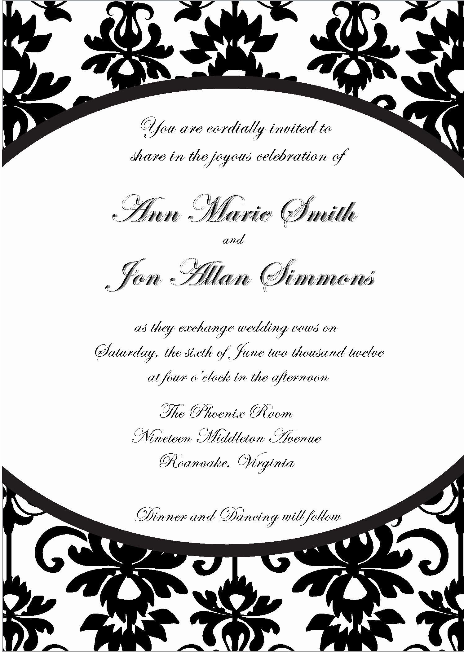 Birthday Invitation Template Word Elegant Birthday Invitation Inv