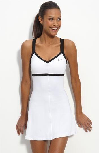 Nike Border Tennis Dress White And Black Tennis Dresses Tennis Skirts Tennis Ladies Apparel Www Fitnessgi Tennis Dress Tennis Clothes Tennis Fashion