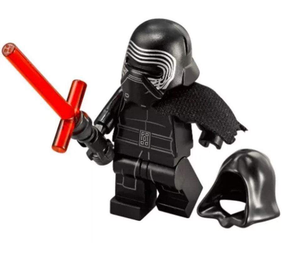 Lego Minifigure Kylo Ren Lightsaber Hood From Star Wars 75104 Set