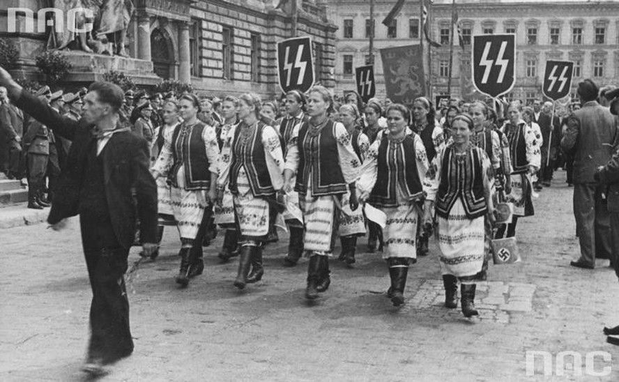 Marches and rallies in support of the Ukrainian Waffen-SS volunteers.