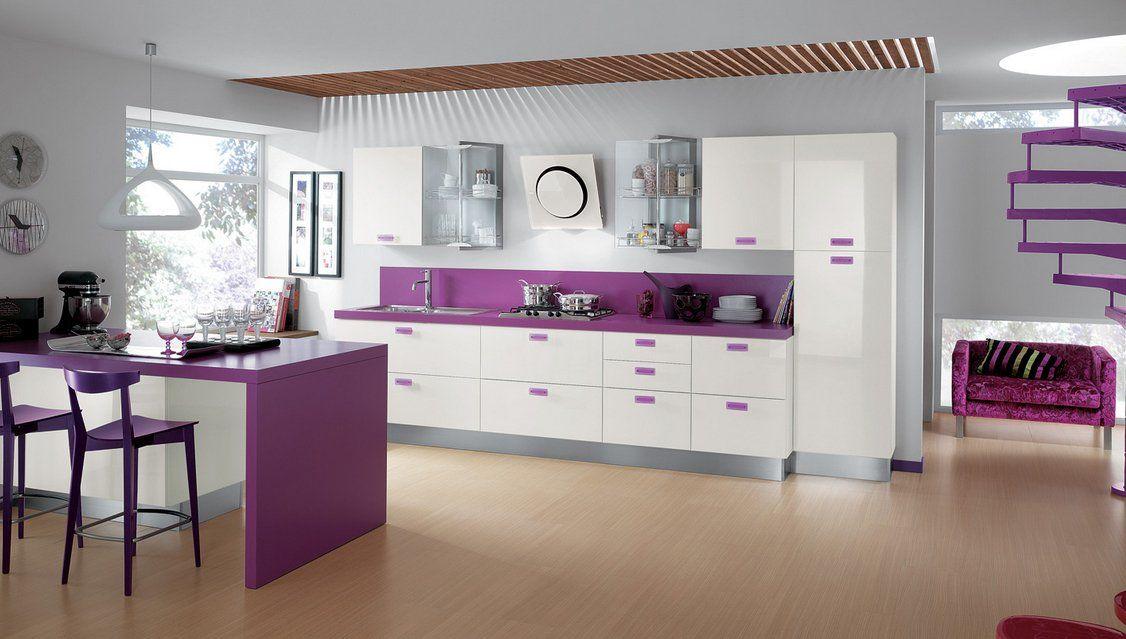imagenes de cocinas integrales modernas Cocinas modernas coloridas - cocinas integrales modernas