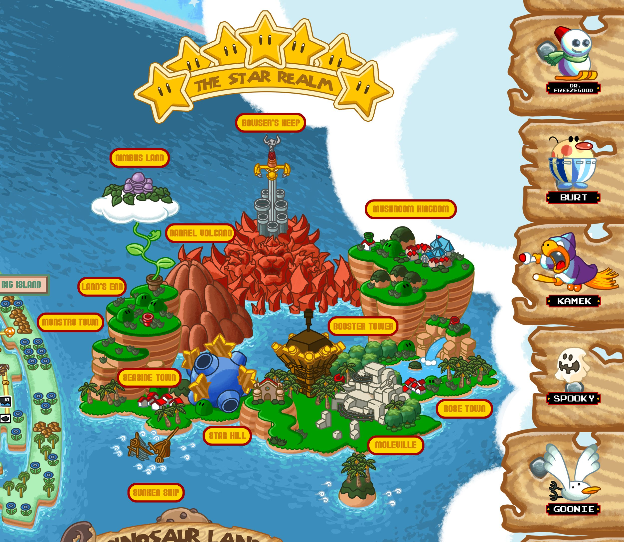The Mushroom Kingdom 1985 1996 Detail Of A Map Depicting The