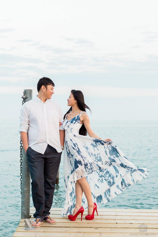 Prewedding photo shoot at the beach. PreWedding