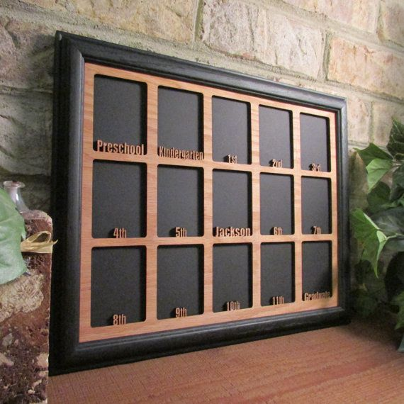 School Years Picture Frame Personalized With Any Name 10 Etsy School Photo Frames School Years Picture Frame School Pictures Display