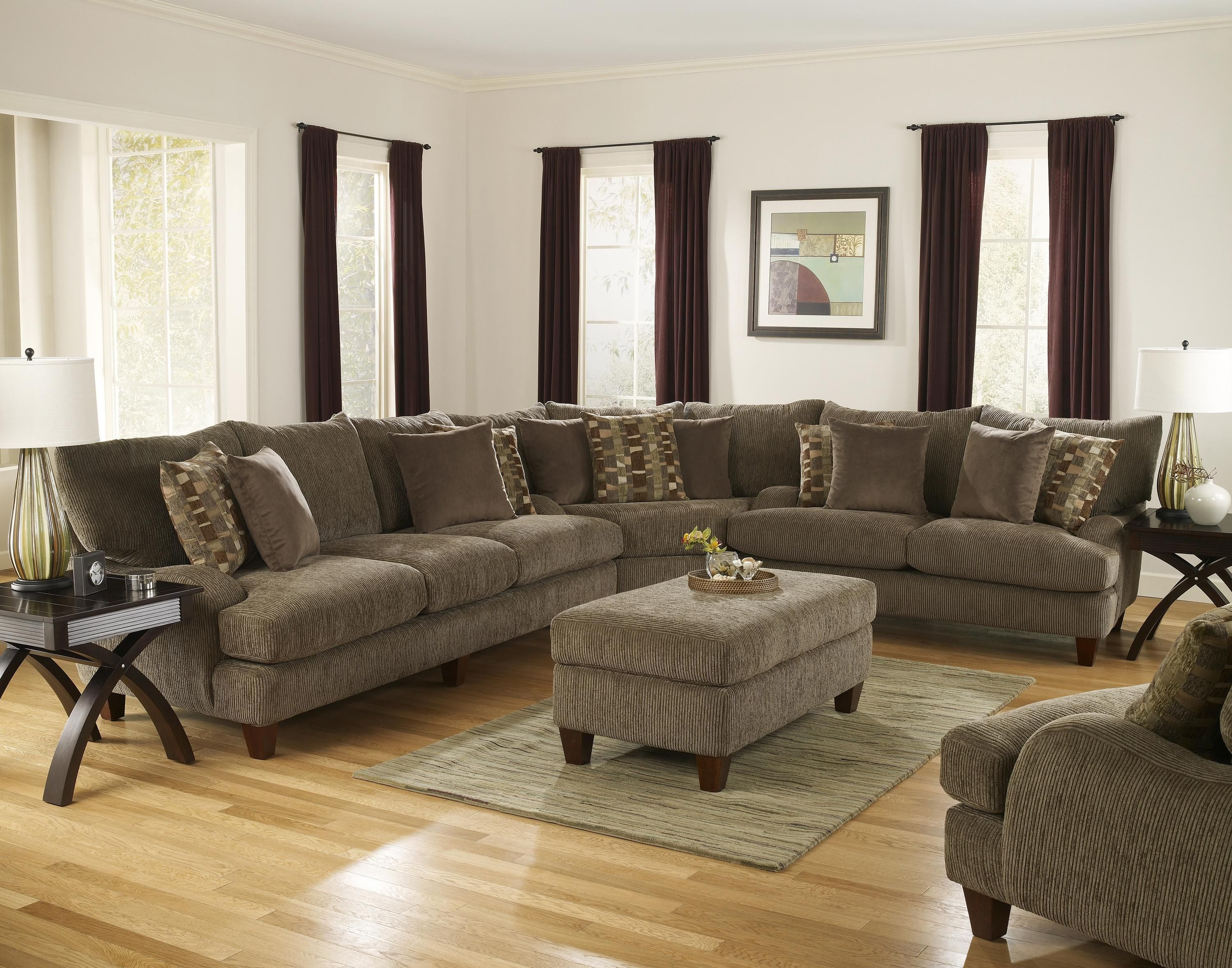 1790 Sectional By Corinthian Leather Living Room Furniture Furniture Living Room Designs
