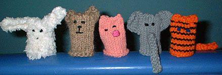 Fingerpuppen Tiere Puppen Stricken Und Fingerpuppen
