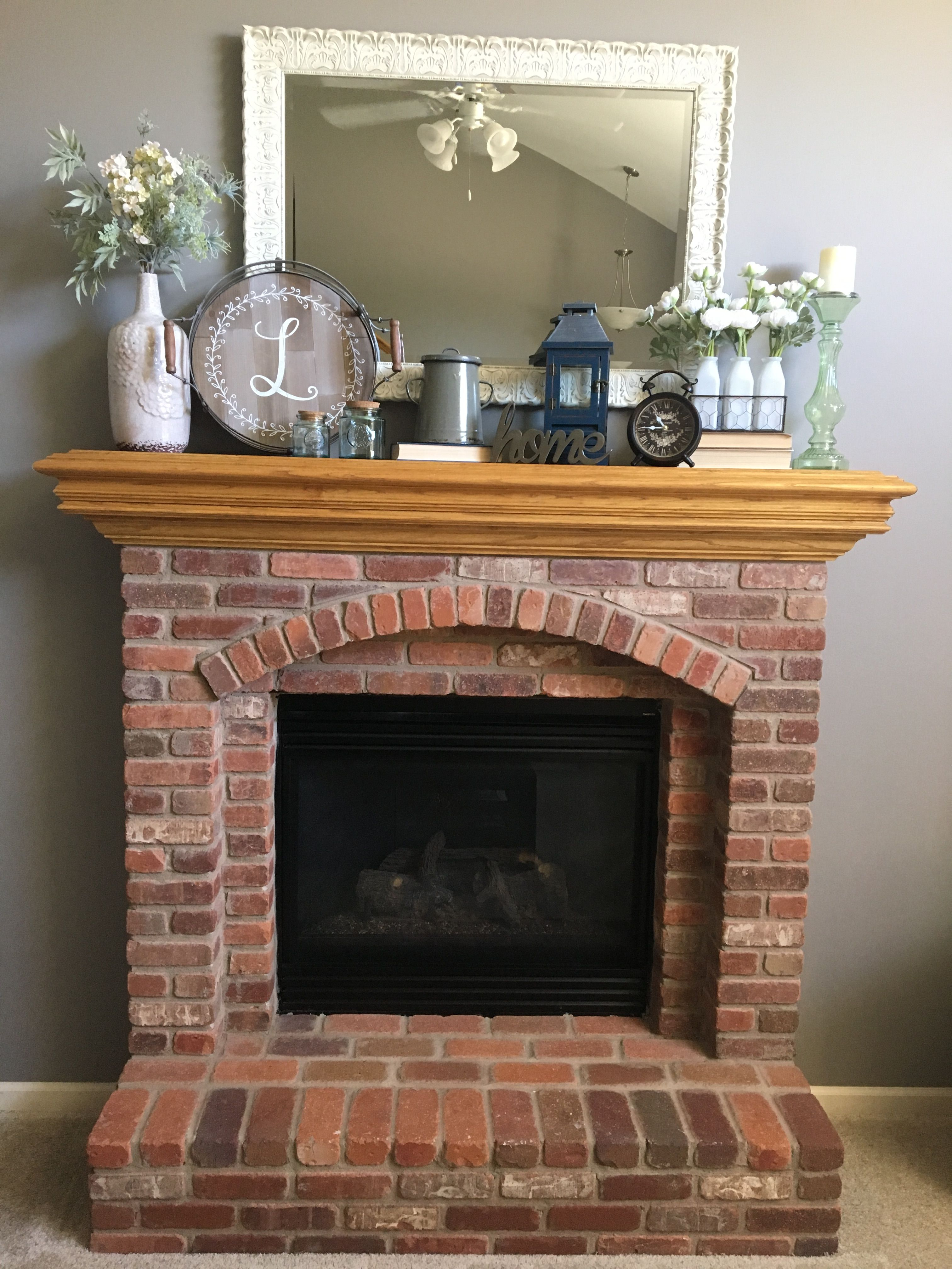 Farmhouse chic fireplace mantel decor for the home pinterest