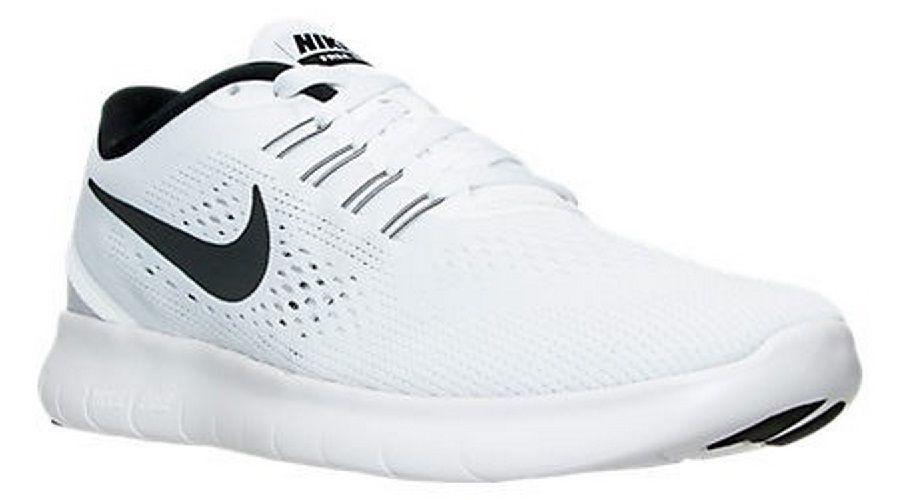 Nike Men s Free RN Running Shoes 831508 100 White Black  Nike   RunningCrossTrainingSneakers 77778b517