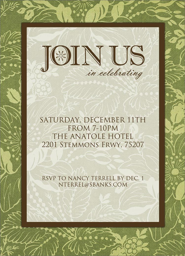 Join Us Formal Invitation Holiday Party Invitations From Cardsdirect