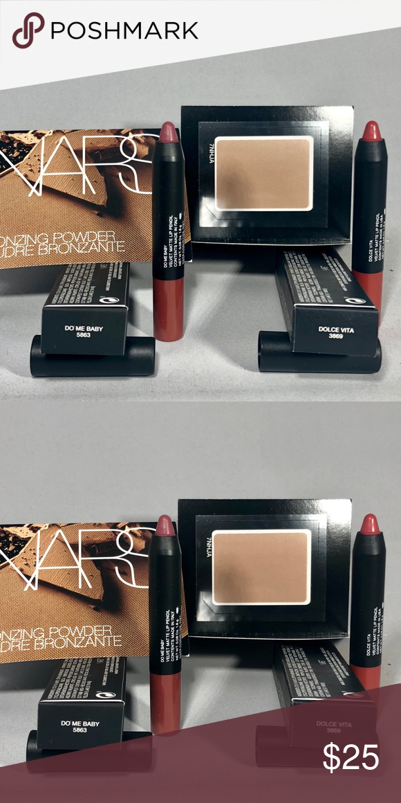 4 pc NARS Set 🔥💋 Lip pencil colors, Nars, Bronzing powder