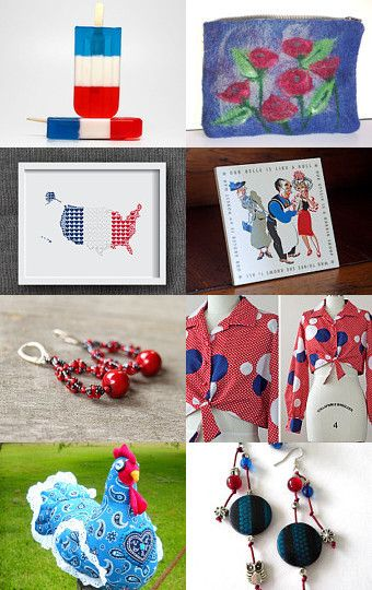 Red White and Blue - ~ 10% Off All Featured Shops by Jacquelyn Jones on Etsy--Pinned with TreasuryPin.com